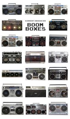 A generation of music fans are still recovering from the shoulder pain of carrying one of these guys down the block. Even though our music-delivery devices have Radios, Boombox, Lps, Transport Public, Foto Picture, Retro, Hip Hop, Pub Vintage, Hifi Audio