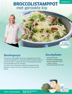 Broccolistamppot met gerookte kip. Recept van Sonja Bakker