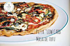 PIZZA LOW CARB, DE MASA DE TOFU.   Demos la vuelta al día