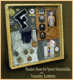 17493e21c1a Custom Made Wood Shadow Boxes For Sports High School Football
