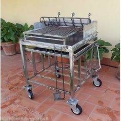 Stainless Steel Barbecue. Customize Realizations. 853 Barbecue, Kitchen Cart, Stainless Steel, Accessories, Food, Home Decor, Decoration Home, Barrel Smoker, Room Decor