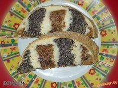 Makovo orechový metrový koláč s tvarohovou plnkou Y Recipe, Food Dishes, Tiramisu, Food And Drink, Pudding, Ethnic Recipes, Japan Garden, Poppy, Cakes