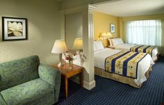 Relax in your own living area at the SpringHill Suites Orlando Lake Buena Vista in Marriott Village.