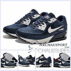 best website d6d36 ef85b Nike Air Max 90 L Été   Meilleur Chaussures Running Homme Bleu Marine