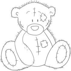 Teddy Bear Pictures to Print and Color | Как рисовать подарочного медвежонка ...
