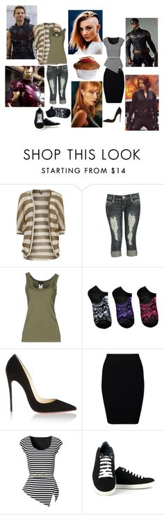 """""""One Step Closer."""" by crossxover ❤ liked on Polyvore featuring Izabel London, Wet Seal, Richmond Denim, SCARLETT, Christian Louboutin, Just Female, Jane Norman, Vegetarian Shoes, Avengers and fanfiction"""
