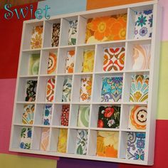 Use of wallpaper as background accent Letter Case, Dressing, Types Of Craft, Displaying Collections, Diy Arts And Crafts, Of Wallpaper, Craft Items, Shadow Box, Altered Art