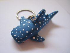 Whale shark. polymer clay. Choose keyring, magnet, pendant, earrings...