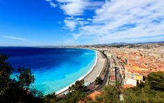 One of the plages in Nice, French Riviera