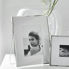 """Fine Silver Easel Photo Frame 4x6""""   Photo Frames   Home Accessories   Home   The White Company UK"""