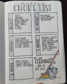 Master Chore List - Bullet Journal