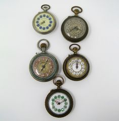 Lot of five Roskopf pocket watches, late Century and early Pocket Watch, 19th Century, Watches, Metal, Accessories, Walking Gear, Pocket Watches, Finals, Twine