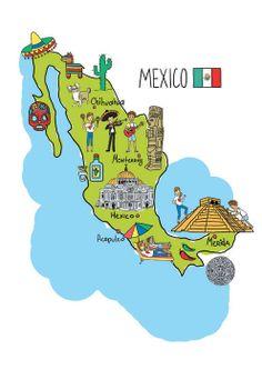 Xenia Sova - Map of Mexico