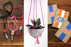 DIY Planters and Skull Necklaces