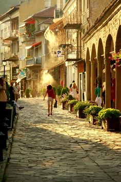 Summer in Veliko Tarnovo, Bulgaria - Samovodska charshya, the street of crafts. Very charming place.