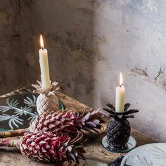 Small Pineapple Candlesticks