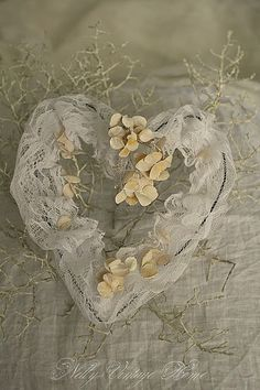 shabby lace heart