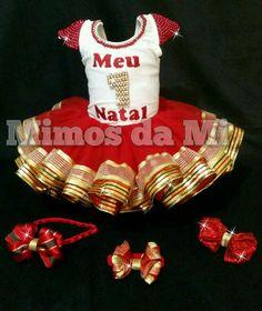 4a8bb77b6af Luxuoso kit tutu de natal Compõe   01 collant de lycra de altíssima  qualidade com mais