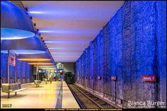 """U-Bahn-Station """"Westfriedhof"""" - München-Spezial #München #Munich #Bayern #Bavaria #Deutschland #Germany #subway #underground #station #igersgermany #IG_Deutschland #underground_enthusiasts #biancabuergerphotography #metro #shootcamp #pickmotion #architecture #Architektur"""