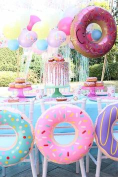 If you are planning a super cool birthday party, you are at the right place! Our Donut Party ideas will help you throw the sweetest party ever! Glow in the Dark Neon Party Ideas Party Themes for Teenagers 32 Süß Und Liebenswert Minnie Mouse Party Ideen Donut Party, Donut Birthday Parties, Birthday Party Decorations, Children Birthday Party Ideas, Birthday Themes For Girls, Childrens Party, Birthday Outfits, 10th Birthday, Pool Party For Kids