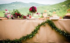 Wedding set up of weddings in Umbria, Italy. | Italian Wedding Dream