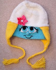 Smurfette hat...Again, I would need a girl to wear it, but how freakin cute?!