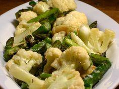 Roasted asparagus and cauliflower. Pretty good! Will make again.