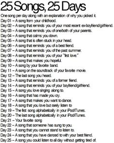 i have to make this 30! 30-day song challenge! :)