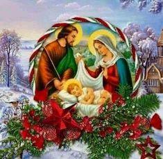 Christmas Baby, Vintage Christmas, Xmas, Pictures Of Jesus Christ, Catholic Religion, O Holy Night, Christian Videos, Christmas Illustration, Poster