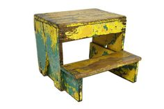 Antique Stepping Stool by kassiekeith on Etsy