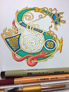 Illuminated letter S by Janet Plantinga Art
