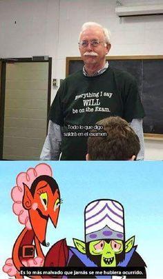 Maldad pura la de este profesor Gracias a http://www.cuantocabron.com/ Si quieres leer la noticia completa visita: http://www.estoy-aburrido.com/maldad-pura-la-de-este-profesor/