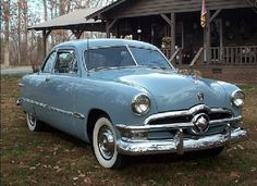 1950 Ford Powder Blue Custom Coupe