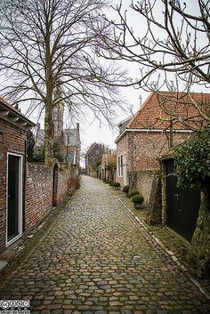 Veere, Zeeland, The Netherlands.  Love those charming cobblestone roads.