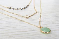 Gold Layered Necklaces Set   Long Necklace Minimal by HLcollection #wish #list #necklaces
