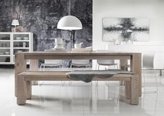Dining table and chairs from Living.no Mison, Home Comforts, Dining Table Chairs, Own Home, Interior Inspiration, Modern Contemporary, Entryway Tables, Living Room, Furniture