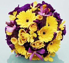 yellow & plum party ideas | this bouquet is really well put together. i like that it has dark and ...