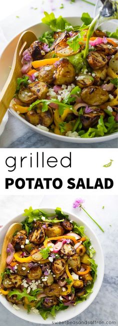 Grilled Potato Salad (no mayo!) with Grilled Onions and Peppers ...