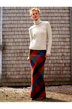 turtleneck cable knit & maxi