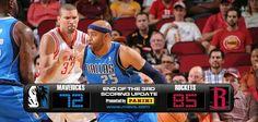 (1-1) Mavericks 105-113 Rockets (2-0)