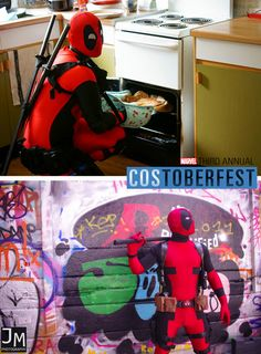 Costoberfest 2013 - Day 9  Happy Deadpool Day! Introducing TinyTinySquid and Blood Spider as Deadpool!  Photos by Carlos Fraile and Joshua Murray.  Marvel's use of all photos are governed by the Marvel.com Terms of Use and Privacy Policy.