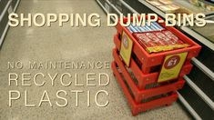 Recycled Plastic Retail Dump-bins have been installed in Iceland supermarkets nationwide!