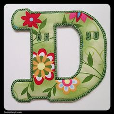 INSTANT DOWNLOAD  Banner Alphabet Letter D in PES by EmbroideryIt