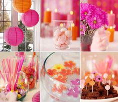 festa rosa e laranja