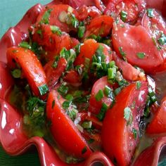 Killer Marinated Tomatoes !!Enjoy!!, Directions: 1. Whisk together all the ingredients except the tomato wedges. Add the tomatoes and toss to coat. Allow to marinate at room temperature for a couple of hours, stirring every now and then. Serve with lots of bread to soak up all the yummy marinade. Enjoy!