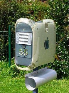 Old G4 tower has been converted into a mailbox