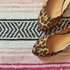 Suede Leopard Flats #uniquevintage