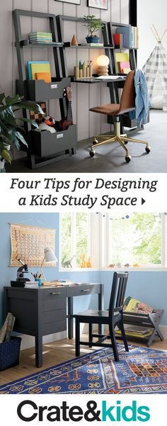 We put our thinking caps on and came up with genius tips for creating an A+ study space. (Getting kids to do their homework is up to you. My New Room, My Room, Kids Study Spaces, Study Areas, Interior Design Living Room, Kitchen Interior, Home Projects, Homework, Decoration