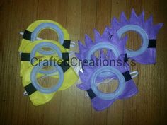 Purple Minion mask Despicable Me by CraftedCreationsKS on Etsy