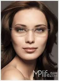 Image result for clear plastic eyeglasses on women over 50